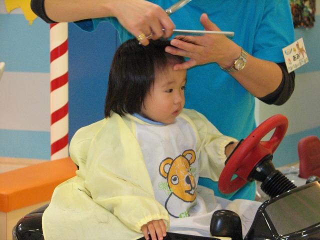 子供の散髪