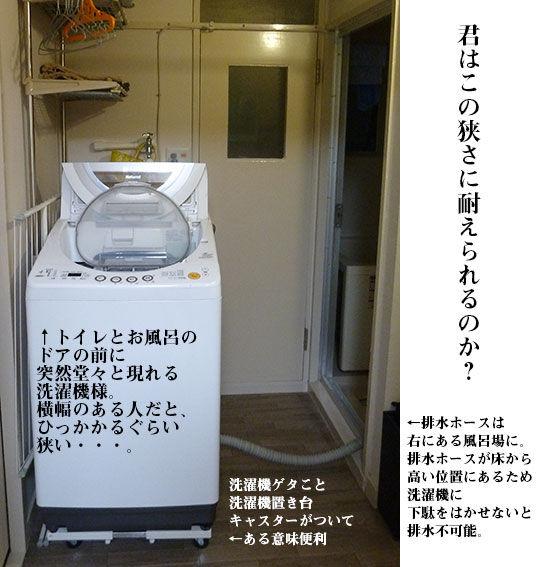 団地の洗濯機置き場