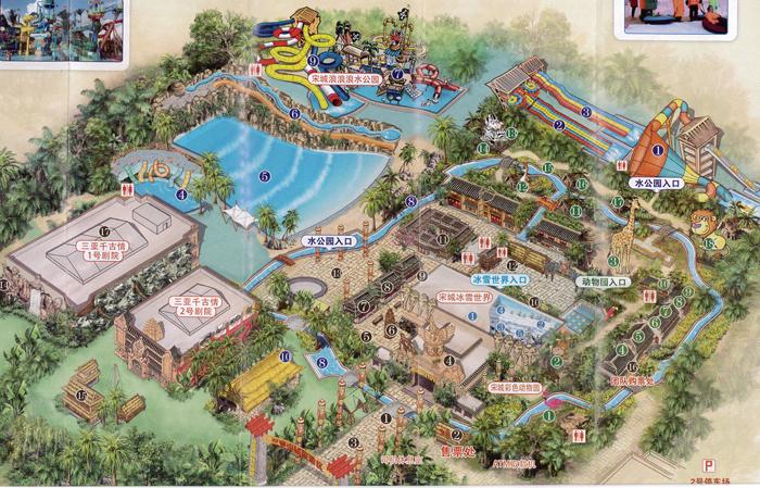 三亚宋城旅游区map