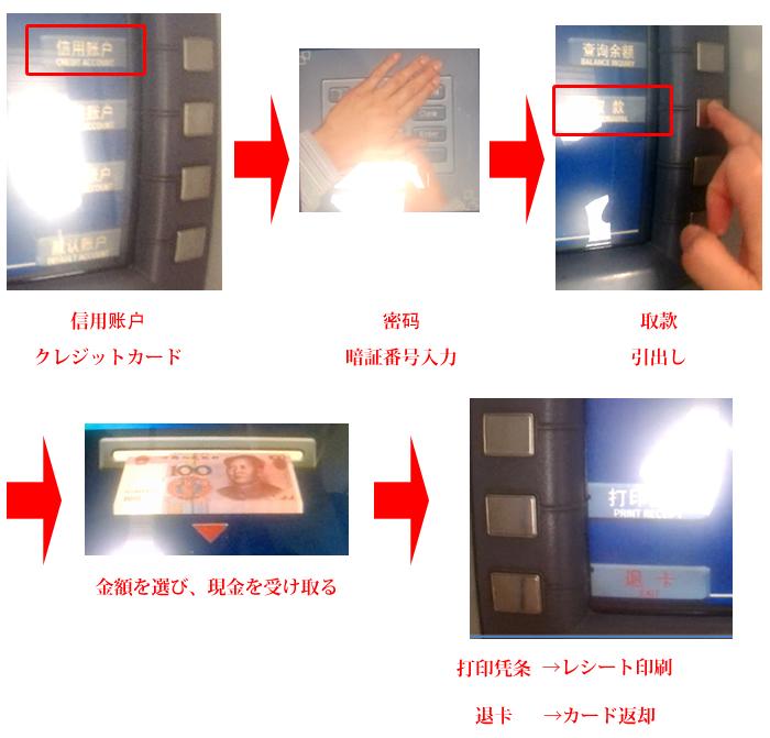 中国ATMでの海外キャシング方法