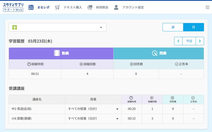 スタディサプリサポートWeb