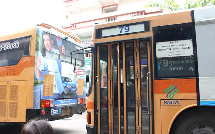 タリンチャン水上マーケット行きバス