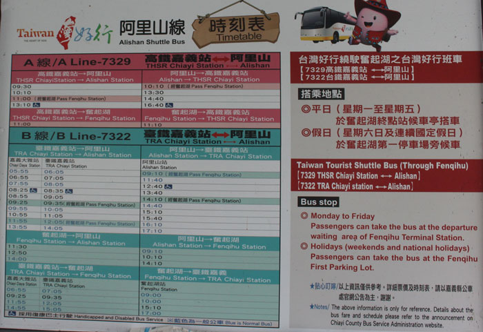阿里山山林鉄道(阿里山森林鉄路)のネット予約方法と現地購入方法
